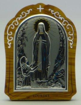 Wooden & Silver Apparition Ornament Free Standing