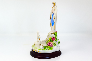 Statue of Saint Bernadette and Our Lady of Lourdes.