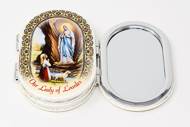 Lourdes Apparition Handbag Mirror.