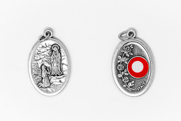 Lourdes Apparition Relic Medal.