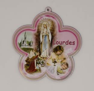 Lourdes Apparition Medallion Plaque.