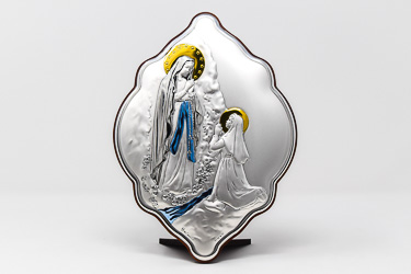 Lourdes Apparition Wall Plaque.