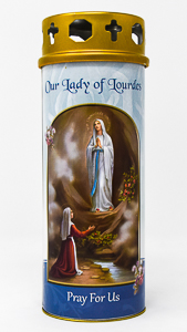 Lourdes Apparitions Pillar Candle.