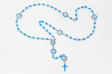 Lourdes 925 Silver Rosary.