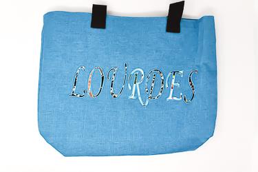 Lourdes Blue Shopping Bag.