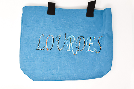 Lourdes Blue Shopping Bag.