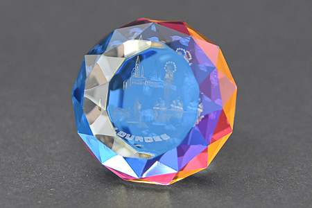 3-D Crystal Paperweight.