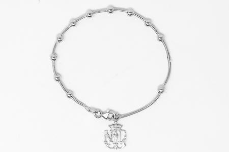 Lourdes Emblem Sterling Silver Bracelet.