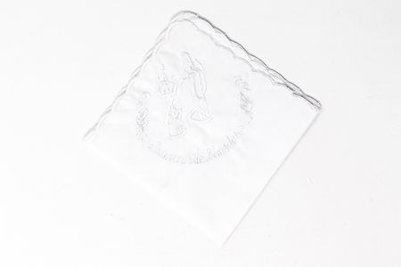 Lourdes Embroidered Handkerchief.