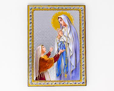 Lourdes Gold Foil Wall Plaque.