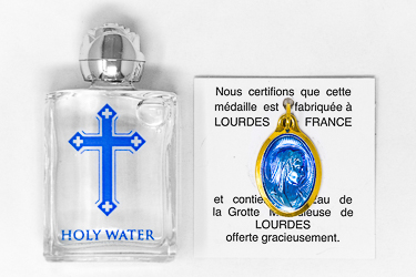 Holy Water Pendant & Bottle of Holy Water.
