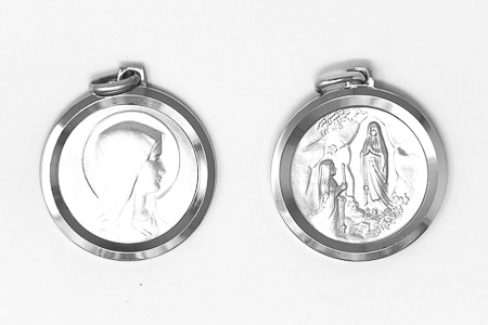 Round Virgin Mary Pendant / Medal.