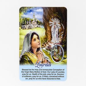 Lourdes Prayer Card.