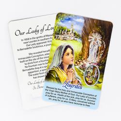 Lourdes Prayer Card & Medal.