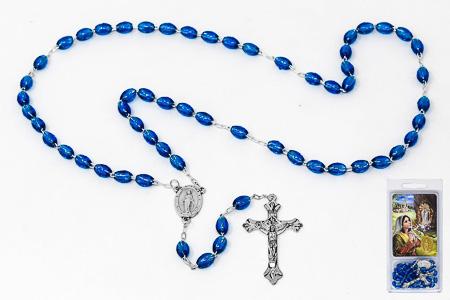 Lourdes Rosary & Laminated Prayer Card.
