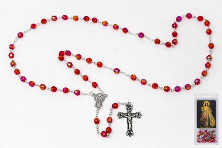 Divine Mercy Rosary & Laminated Prayer Card.