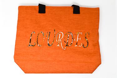 Lourdes Orange Shopping Bag.