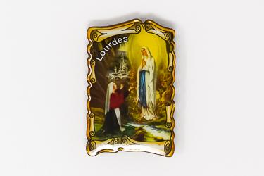 Lourdes Scroll Apparition Magnet.