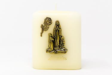 Lourdes Square Candle.