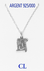 925 Lourdes Scroll Necklace.