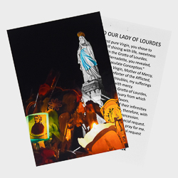 Lourdes Torchlight Procession Prayer Card.