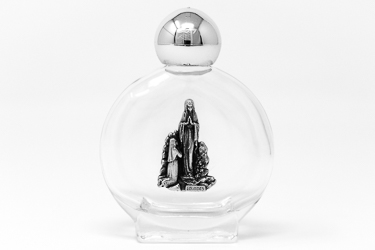 Holy Water inside a Round Glass Bottle