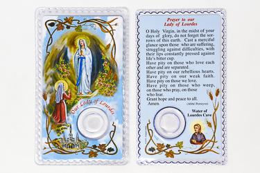 Lourdes Water Card.