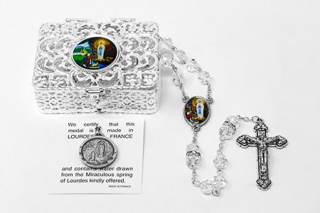 Lourdes Water Pendant Gift Set.