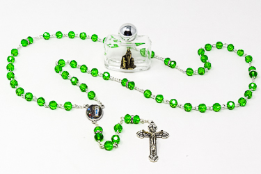 Lourdes Rosary & Bottle of Lourdes Water.