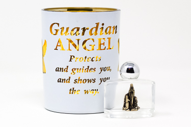 Guardian Angel Glass Votive Light Holder.