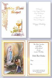 Lourdes Birthday Mass Card.