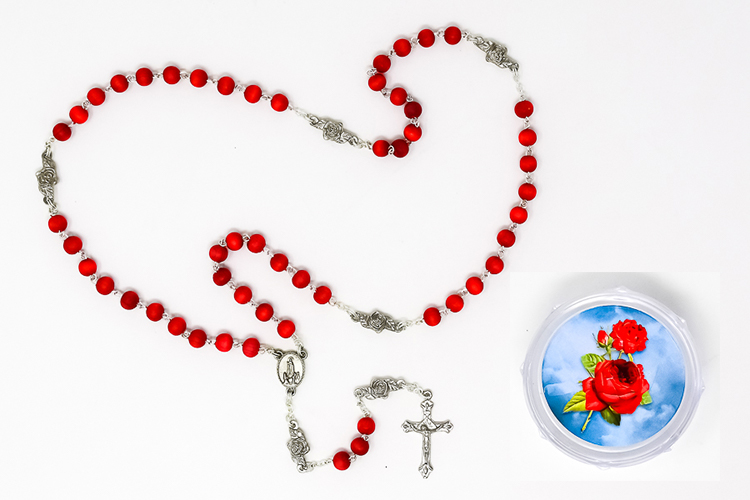 Rose Scented Lourdes / Fatima Rosary Beads.