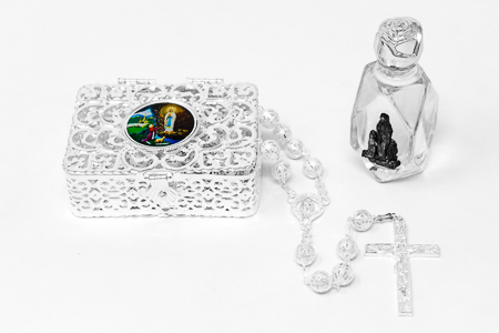 Lourdes Water & Rosary Gift Set
