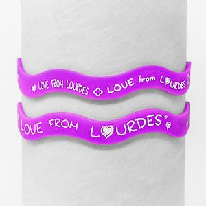Purple Lourdes Rubber Bracelet.