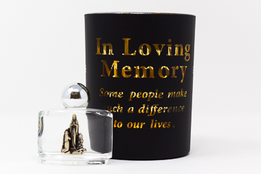 Loving Memory Glass Votive Light Holder.