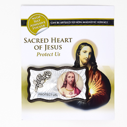 Magnetic Car Plaque - Sacred Heart of Jesus.