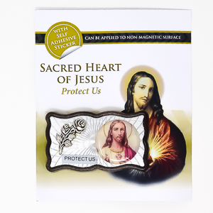 Magnetic Car Plaque - Sacred Heart of Jesus.