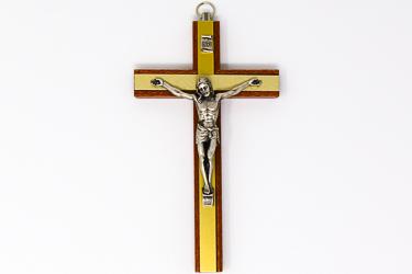 Mahogany Wooden Crucifix.