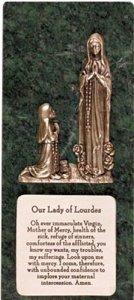 Marble Lourdes Grave Plaque.