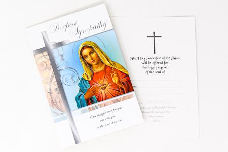 Mary Deepest Sympathy Card.