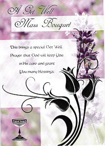 Mass Bouquet Get Well Card.