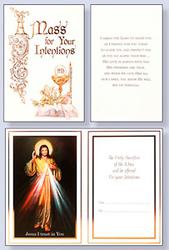 Divine Mercy Mass Card.