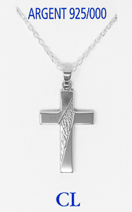 Men's 925 Silver Cross Necklace.