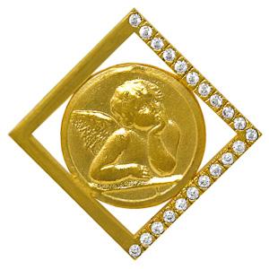 Gold Cherub Pendant.