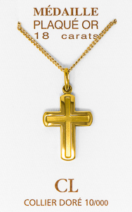 Men's Gold Cross Necklace.
