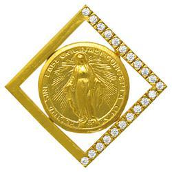 Gold Miraculous Pendant.
