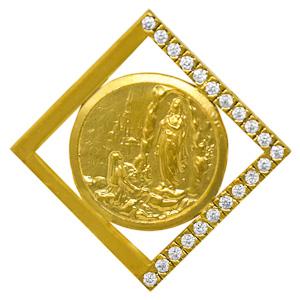 Gold Lourdes Pendant.