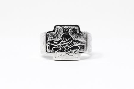 Men's St Joseph 925 Silver Ring.