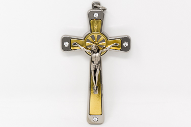 Crucifix With Swarovski Crystals.