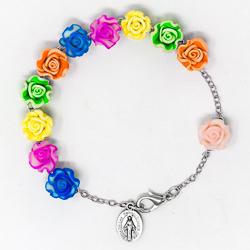 Flower Rosary Bracelet.